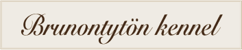 Brunontytön kennel logo